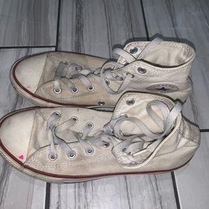 White Converse Chuck Taylors